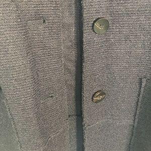 Zara Jackets & Coats - Zara Blended Wool outerwear Navy Coat